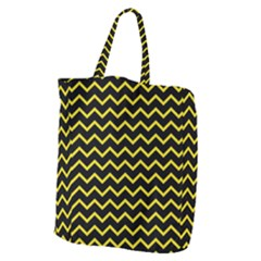 Yellow Chevron Giant Grocery Zipper Tote by jumpercat