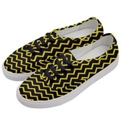 Yellow Chevron Women s Classic Low Top Sneakers by jumpercat