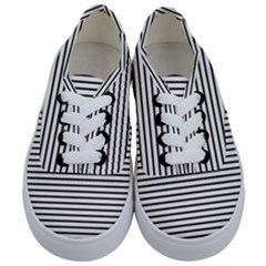 Basic Horizontal Stripes Kids  Classic Low Top Sneakers
