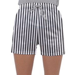 Basic Vertical Stripes Sleepwear Shorts