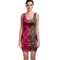 Christmas Colors Wrapping Paper Design Bodycon Dress by Fractalsandkaleidoscopes