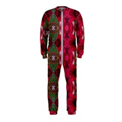 Christmas Colors Wrapping Paper Design Onepiece Jumpsuit (kids) by Fractalsandkaleidoscopes