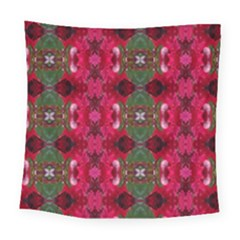 Christmas Colors Wrapping Paper Design Square Tapestry (large) by Fractalsandkaleidoscopes
