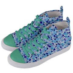 Gardenia Cold Women s Mid-top Canvas Sneakers by jumpercat
