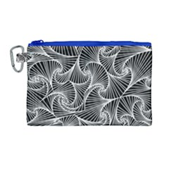 Fractal Sketch Dark Canvas Cosmetic Bag (large) by jumpercat