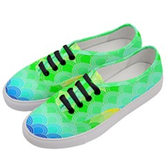 Art Deco Rain Bow Women s Classic Low Top Sneakers by 8fugoso