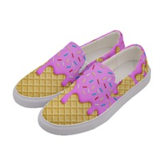 Strawberry Ice Cream Women s Canvas Slip Ons by jumpercat
