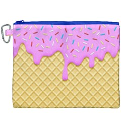 Strawberry Ice Cream Canvas Cosmetic Bag (xxxl) by jumpercat