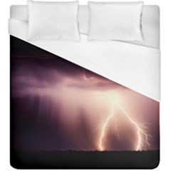 Storm Weather Lightning Bolt Duvet Cover (king Size)