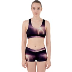 Storm Weather Lightning Bolt Work It Out Sports Bra Set by BangZart