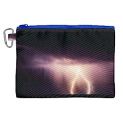 Storm Weather Lightning Bolt Canvas Cosmetic Bag (xl)
