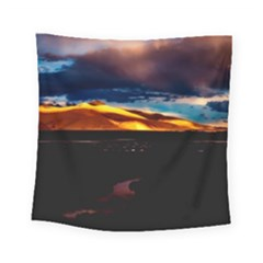 India Sunset Sky Clouds Mountains Square Tapestry (small)