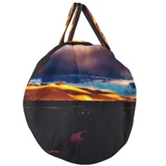 India Sunset Sky Clouds Mountains Giant Round Zipper Tote