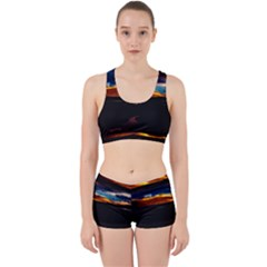 India Sunset Sky Clouds Mountains Work It Out Sports Bra Set