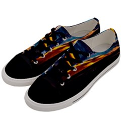 India Sunset Sky Clouds Mountains Men s Low Top Canvas Sneakers by BangZart