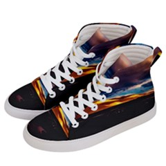 India Sunset Sky Clouds Mountains Men s Hi Top Skate Sneakers by BangZart