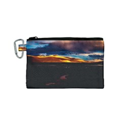 India Sunset Sky Clouds Mountains Canvas Cosmetic Bag (small)