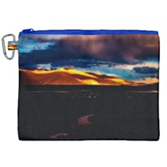 India Sunset Sky Clouds Mountains Canvas Cosmetic Bag (xxl)