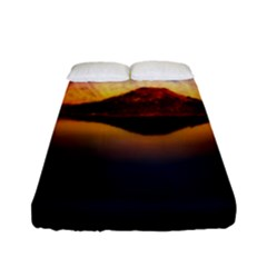 Crater Lake Oregon Mountains Fitted Sheet (full/ Double Size) by BangZart