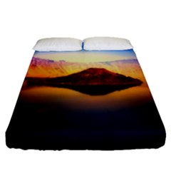 Crater Lake Oregon Mountains Fitted Sheet (queen Size) by BangZart
