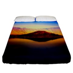 Crater Lake Oregon Mountains Fitted Sheet (king Size) by BangZart