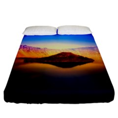 Crater Lake Oregon Mountains Fitted Sheet (california King Size) by BangZart