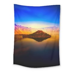 Crater Lake Oregon Mountains Medium Tapestry by BangZart