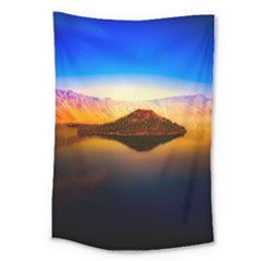 Crater Lake Oregon Mountains Large Tapestry by BangZart