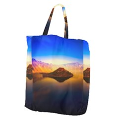 Crater Lake Oregon Mountains Giant Grocery Zipper Tote