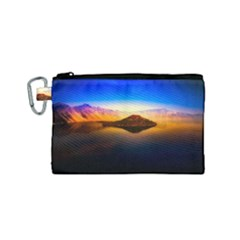 Crater Lake Oregon Mountains Canvas Cosmetic Bag (small)