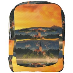Bled Slovenia Sunrise Fog Mist Full Print Backpack