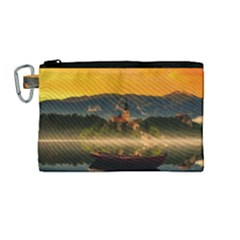 Bled Slovenia Sunrise Fog Mist Canvas Cosmetic Bag (medium) by BangZart