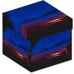 Canada Lake Night Evening Stars Storage Stool 12