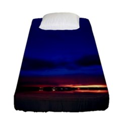 Canada Lake Night Evening Stars Fitted Sheet (single Size)