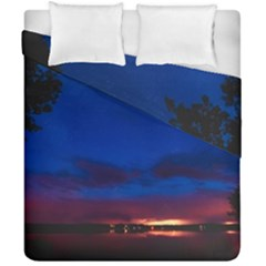Canada Lake Night Evening Stars Duvet Cover Double Side (california King Size)