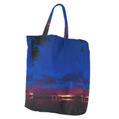 Canada Lake Night Evening Stars Giant Grocery Zipper Tote