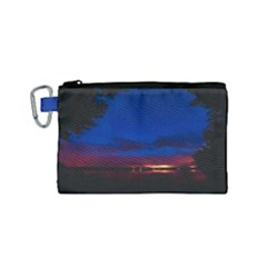 Canada Lake Night Evening Stars Canvas Cosmetic Bag (small)