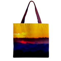 Austria Landscape Sky Clouds Zipper Grocery Tote Bag by BangZart