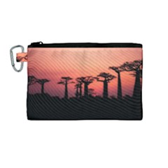 Baobabs Trees Silhouette Landscape Canvas Cosmetic Bag (medium)