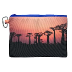 Baobabs Trees Silhouette Landscape Canvas Cosmetic Bag (xl) by BangZart