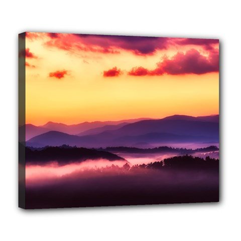Great Smoky Mountains National Park Deluxe Canvas 24  x 20