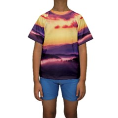 Great Smoky Mountains National Park Kids  Short Sleeve Swimwear