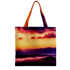 Great Smoky Mountains National Park Zipper Grocery Tote Bag