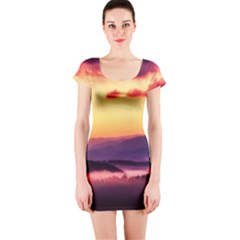 Great Smoky Mountains National Park Short Sleeve Bodycon Dress