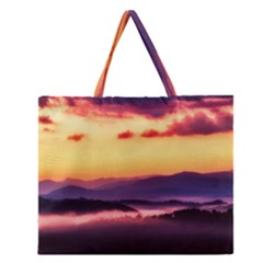 Great Smoky Mountains National Park Zipper Large Tote Bag