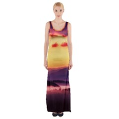 Great Smoky Mountains National Park Maxi Thigh Split Dress