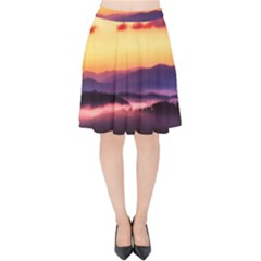 Great Smoky Mountains National Park Velvet High Waist Skirt