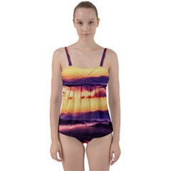 Great Smoky Mountains National Park Twist Front Tankini Set