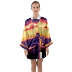 Great Smoky Mountains National Park Long Sleeve Kimono Robe