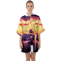 Great Smoky Mountains National Park Quarter Sleeve Kimono Robe
